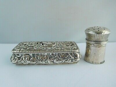 2 Pieces Of Antique English Sterling Silver - Victorian & Georgian