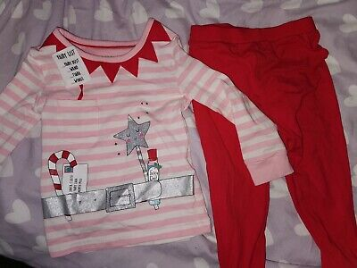 Marks & Spencers Girls Christmas Pyjamas M&S Fairy 1 1/2 - 2 Years 1.5-2