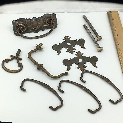 Mixed Lot Vintage Drawer Pulls Hardware Handles Lot Ornate Salvage