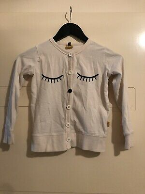 Rock Your Kid Size 7 Cardigan Cream With Buttons