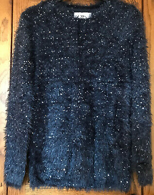 Primark Girls Blue Sparkly Sequin Jumper Age 12-13 BNWOT Christmas Party