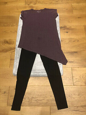 Miss e-vie tunic top & black leggings outfit -age 13-14yrs