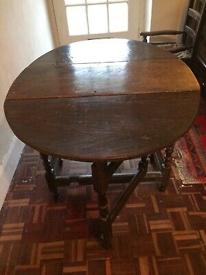 Small Oval Antique Gateleg Drop Leaf Table