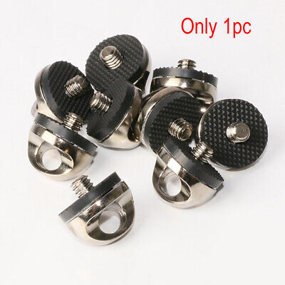 """1/4"""" Stainless Screw Camera Strap Tripod Mount Metal Adapter Quick Connect Tool"""