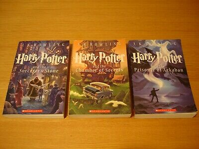 Harry Potter Paperback Special Edition Books 1, 2, 3 JK Rowling  FREE SHIPPING!