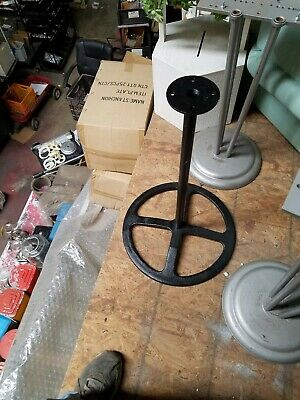 vintage 1920?s 4 spook wheel Black cast iorn gumball stand hard to find Nice