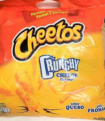 PARTY SIZE CHEETOS CRUNCHY CHEESE FLAVOUR 2 X 400G-Multi Buy