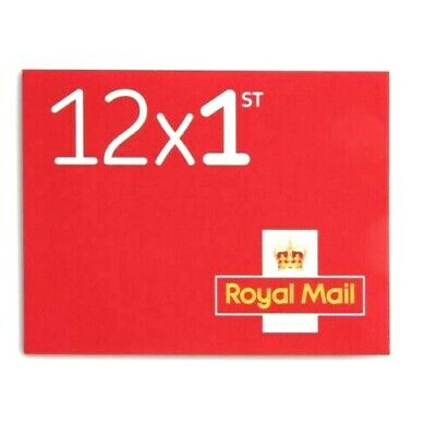 1ST First Class Royal Mail Self Adhesive Postage Stamps (book Of 12 Stamps)