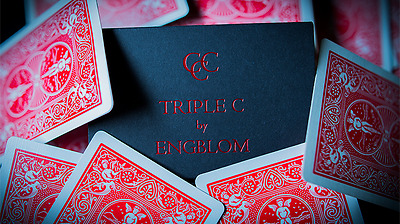 Triple C (Red or Blue) by Christian Engblom Magic Trick Bicycle card street Gaff