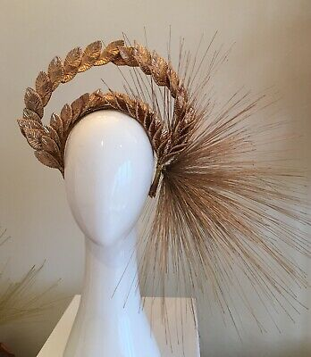 Rebecca Share Gold Leaf Crown Millinery