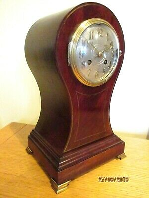 """Superb French  """" Baloon """" Clock by """"Vincenti """"  8 Day Striking, movement.."""