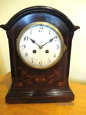"Victorian 8 Day Mahogany French Striking Clock by  ""Japy Freres "" circa.1890s,"