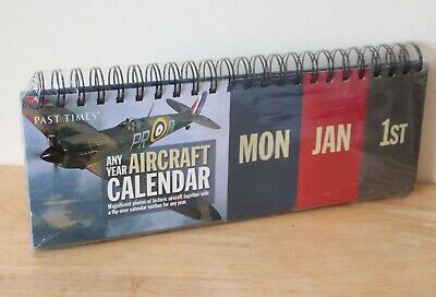 Any Year Aircraft Calendar by Past Times, New and Sealed good for 2020