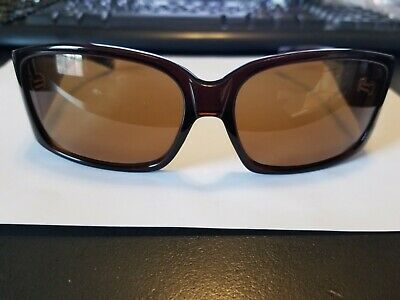 Oliver Peoples Cyn ESP Sunglasses Glossy Brown Brown Polarized 63mm