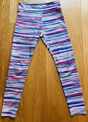 "Old Navy Active Girl's Go-Dry Striped Yoga Pants Youth Size XL Waist 26""-29"""""