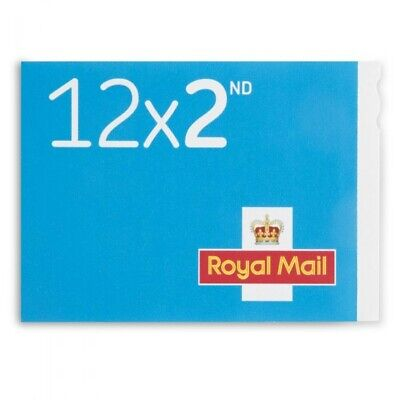 12 x 2nd Class Blue Stamps Royal Mail- Brand New - Geniune Barcode - Free...