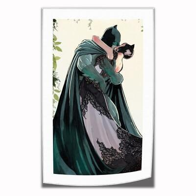"16""x30""Batman kiss catwoman HD Canvas prints Painting Home decor Poster Wall art"