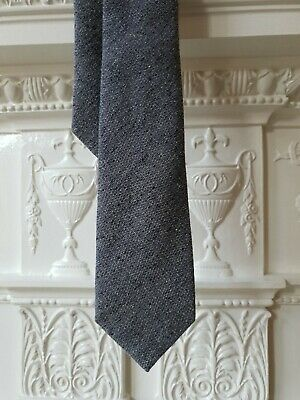 GIEVES & HAWKES No1 Savile Row London  Speckled Solid Wool and Silk Grey Tie