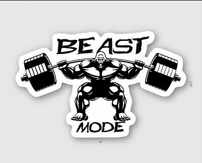 Beast Mode Decal Sticker Gorilla Squat