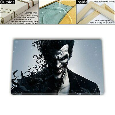 "16""x26"" DC Batman Joker Painting HD Canvas print Framed Home decor Room Wall art"