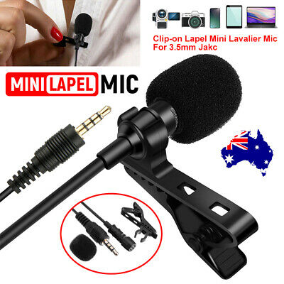 Mini 3.5mm Lavalier Microphone Lapel Clip-on Mic for Mobile Phone PC Recording