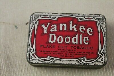 """""""Yankee Doodle"""" Tobacco Tin - B.a.t. Sydney Aust. For The Proprietor In N.z."""