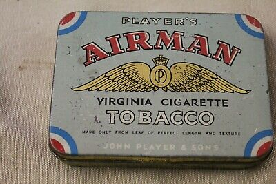 """Player's """"Airman"""" Tobacco Tin - Imperial Tobacco Co. Of New Zealand, Wellington."""