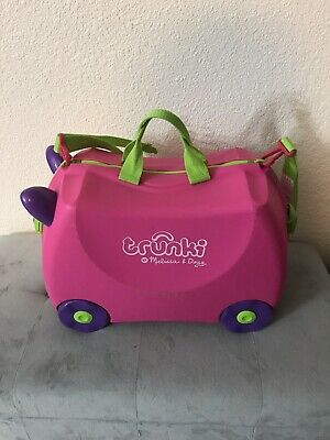Trunki Original Kids Pink Cat Ride-On Suitcase and Carry-On Luggage