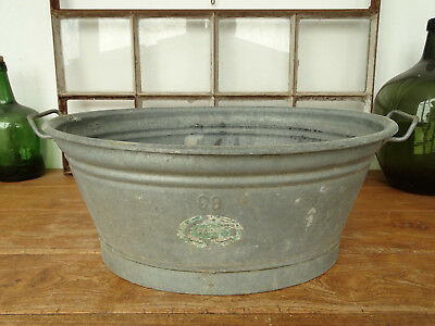 S4118 Beautiful Oval Washtub Bathtub Zinc RAR 24 3/8x19 11/16in Close