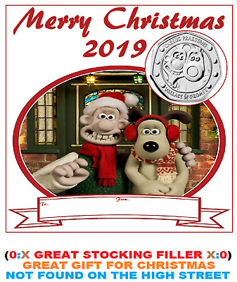 2019 50p COIN WALLACE AND GROMIT 30TH ANNIVERSARY XMAS DISPLAY CARD NEW