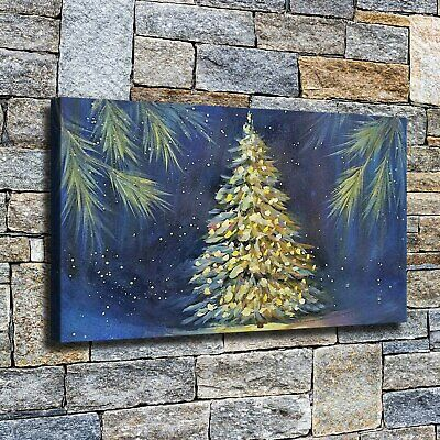 """12""""x22""""Big, shiny Christmas tree HD canvas home decor wall art paintings picture"""