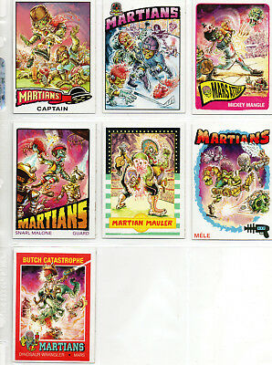 Mars Attacks! Occupation - Lot Of 7 Different Martian Superstar Chase Cards NM
