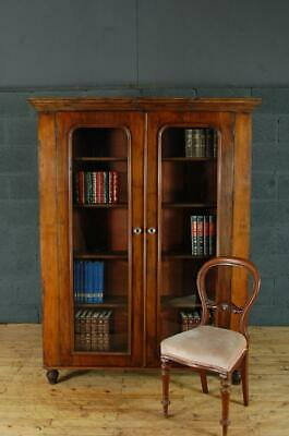 Antique 19th Century Mahogany and Pine Library Glazed Bookcase