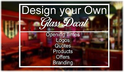 Personalised Custom Glass Window Business Logo text office home decal Sticker