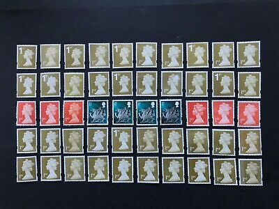100 x  UNFRANKED   1st class stamps   'OFF'   paper. No Gum -  Face Value £70