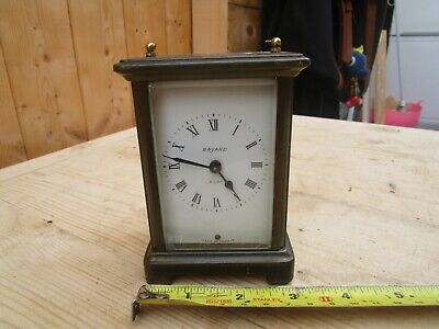 Vintage Bayard French 8 Day Brass Carriage Clock Spares Or Restoration