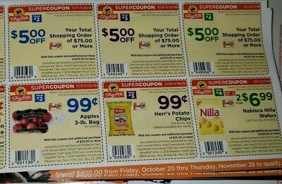 (2) 3 weeks of shoprite super sheets Nov 17 , Nov 24 & Dec 1