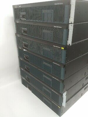 JOB LOT of 7 x 2921/K9 Wired Router + 2 x EHWIC 4ESG Module ** Including VAT **