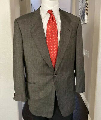 Canali Proposta Men 1 Button 100% Wool Blazer SportCoat Sz 42R Made In Italy