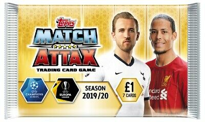 1 Box of Topps Match Attax trading cards 2019/20. 50 Packs of 7 cards