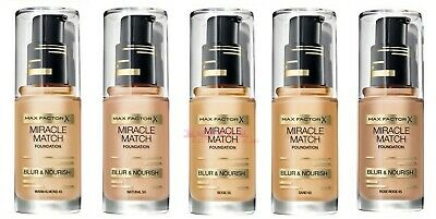 Max Factor Miracle Match Foundation 30Ml Brand New & Sealed Free Post !!!