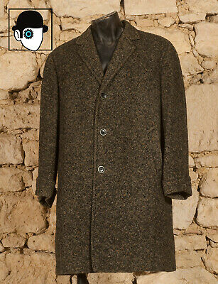 VINTAGE 50s 'BRILL' OVERCOAT - UK/US 42/44 - LARGE - (Z)