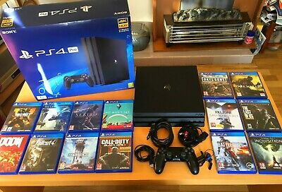 *boxed* Sony Playstation PS4 Pro 1TB 4K bundle with 14 games