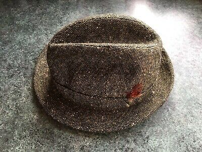 Mens Vintage Trilby Hat - Tweed Wool  -  Tailsworth Bond Street London