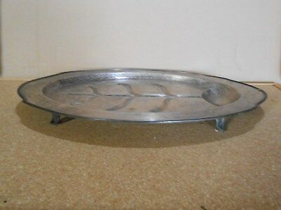 Antique Quality Large Silver Plate Butlers Tray Old Sheffield Plate Vintage Repo