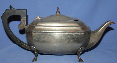 Antique Art Deco Silver Plated E.p.n.s. Footed Teapot