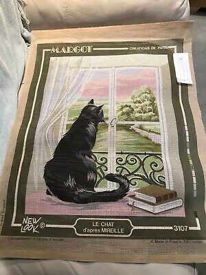 New Margot Creations De Paris Tapestry Canvas . Le Chat D'apres Mirelle