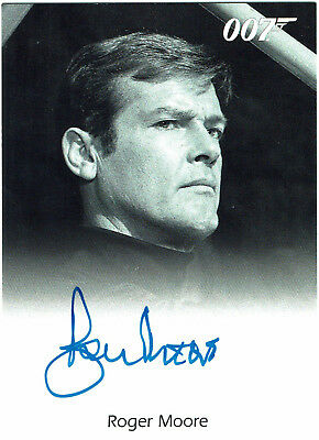 James Bond 50th Anniversary Series 2 Autograph Card Roger Moore Live and Let Die