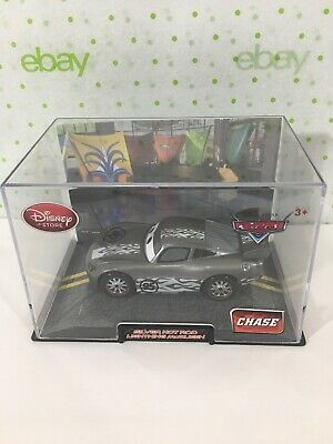 Disney Store Pixar Cars CHASE Exclusive SILVER HOT ROD Lightning McQueen
