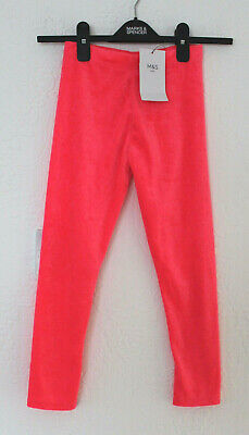 Girls M&S Kids Ages 2-3 & 4-5 Years Pink Velour Leggings Bnwt